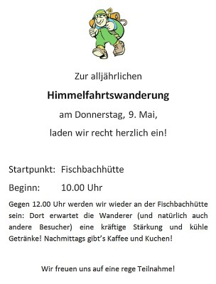 Einladung Himmelfahrt 2013