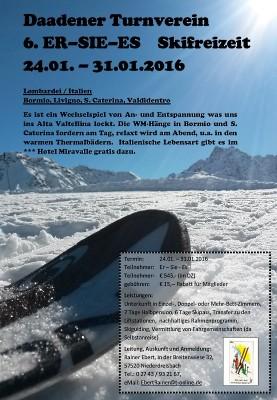Ausschreibung Skifreizeit 2016