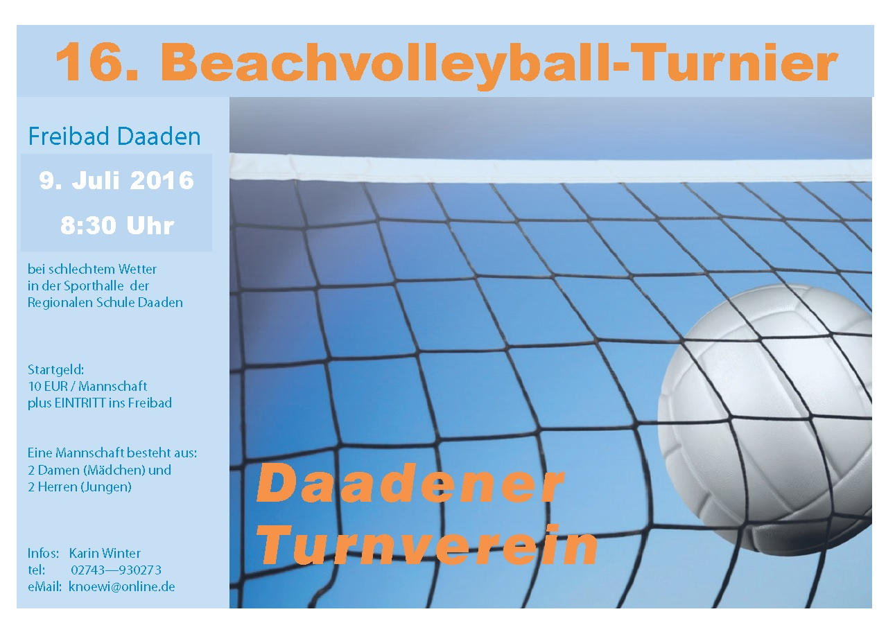 16. Beachvolleyball-Turniert